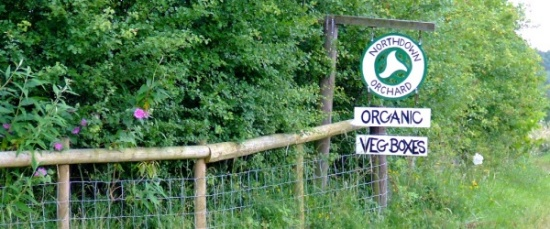 Farm sign at Northdown Orchard